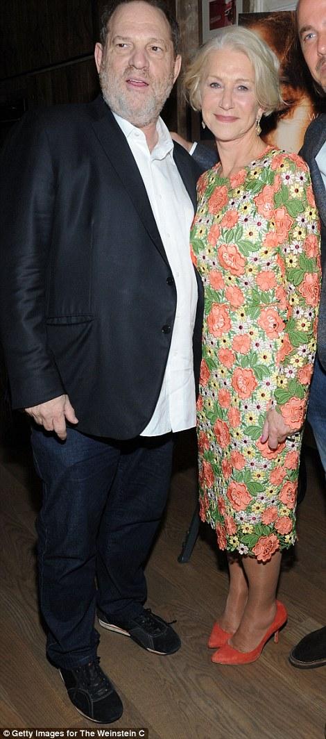 Posing: Harvey Weinstein with Helen Mirren in New York in 2015