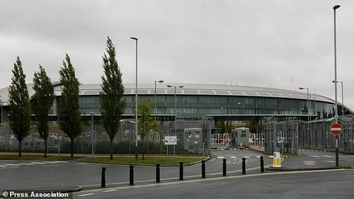 Protecting the UK from cyber attacks is just as important as fighting terrorism, the director of intelligence agency GCHQ has said. Pictured is GCHQ in Cheltenham