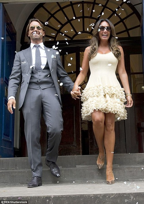 Newlyweds: Tamara married Jay Rutland in the South Of France in 2013. The couple then made their union official with a with registry office ceremony at Chelsea Old Town Hall (pictured)