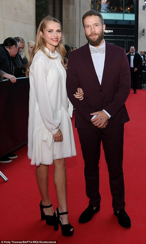 Couple goals!Wearing a gorgeous white floaty frock, the 31-year-old attended the exclusive event with her husband Mark Webber