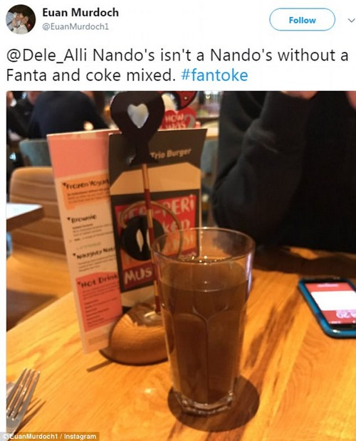 Footballer Dele Alli started a trend of people mixing Coca Cola and Fanta at Nando's, which the athlete calls a 'Fantoke'