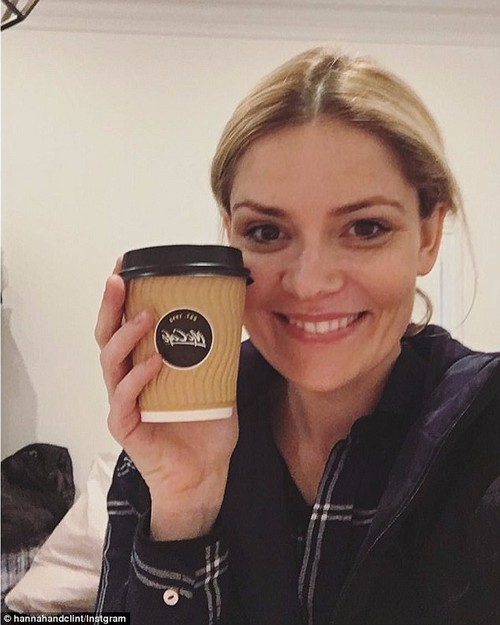 Caffinated life: The 31-year-old said, 'You snack a lot though and on the really late nights, we'd live off lollies and coffee,' adding that it became an ordinary diet