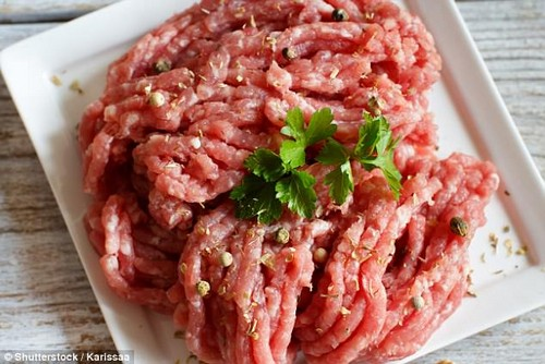 Rae recommends making 'anything with mince', which she uses to make everything from meatballs for dinner to salads and wraps for lunch (file photo)