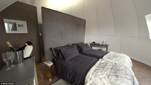 There are double beds for couples or singles with a privacy screen for solo guests and the pods also have a washing area and toilet