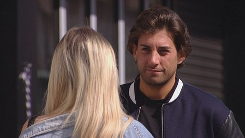 Go for it: Chloe then offers Arg some sage advice, urging him to visit Gemma and clear the air