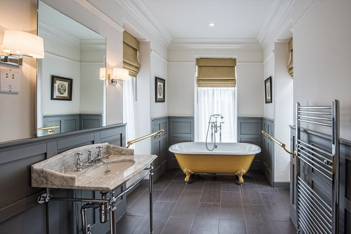 Lather round: The generous bathrooms allow guests to fully unwind and helped the venue score above competitors