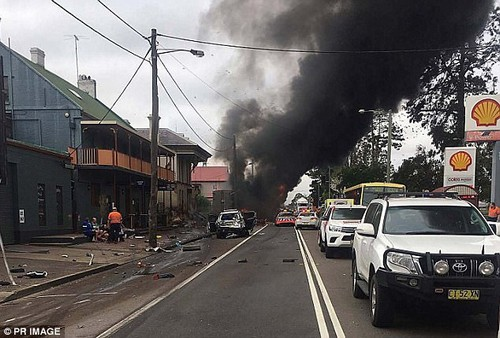 NSW Police told Daily Mail Australia the accident occurred on George Street at Singleton (pictured)