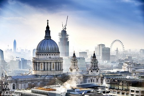 If it's a white Christmas you're looking for London (pictured) becomes an even easier choice when you take in the 37 per cent price drop on tickets