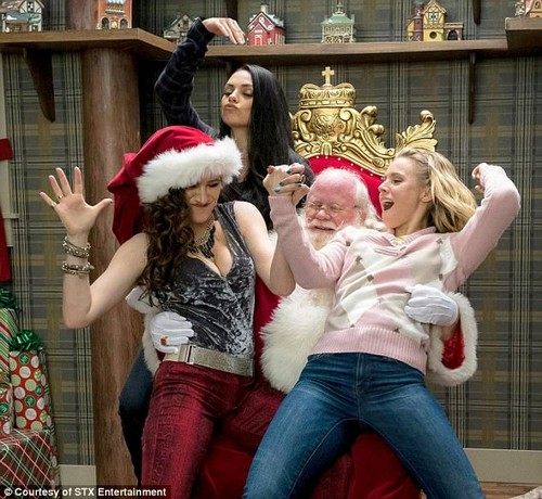 Mom told Santa to stay home! The 34-year-old, who stars in A Bad Moms Christmas, is Jewish but said she started celebrating a secular Christmas when she moved to the US