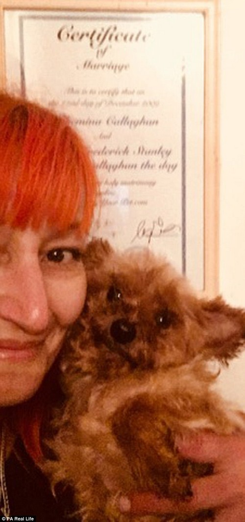 Wilhelmina Morgan Callaghan, 43, from Northern Ireland, married her pet dog and calls him her 'king,' praising his unfailing loyalty and support through several major crises