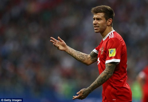 Russia player Fedor Smolov in action during the FIFA Confederations Cup over the summer
