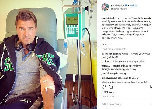 Maxwell, 54, is the host of Booze Traveler, which involves traveling around the world tasting alcohol. He has revealed he has non-Hodgkin's lymphoma, for which he is receiving chemo