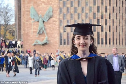 Millie Plisner celebrated a first-class degree just weeks after having a double mastectomy