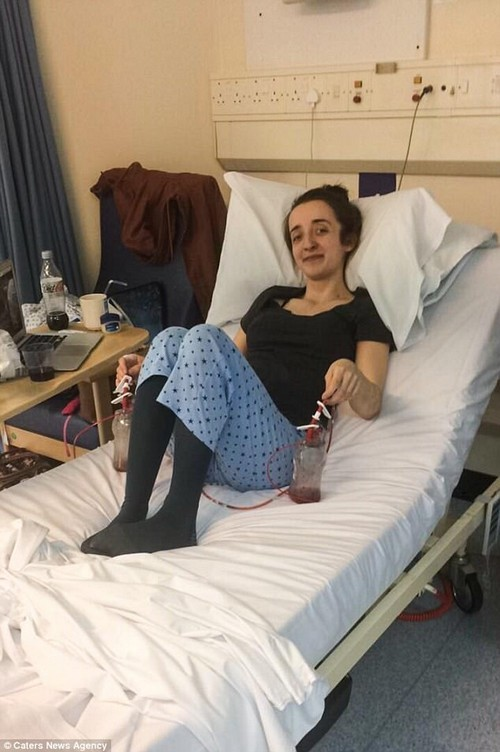 Miss Plisner wrote her dissertation between hospital visits and while recovering