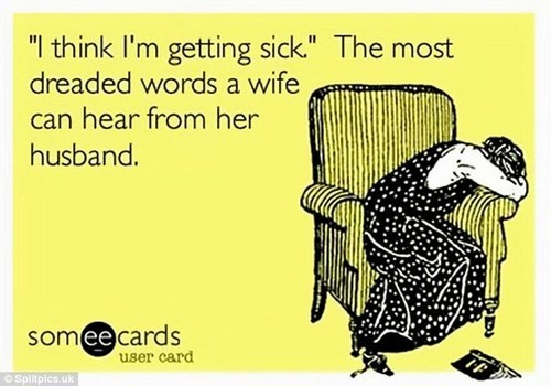 Not what you want to hear! E-card reveals the dreaded words a wife can hear from her husband