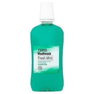 Tesco Fresh Mint Mouthwash, 50p: for those after a budget-buy to freshen breath, this is a good choice