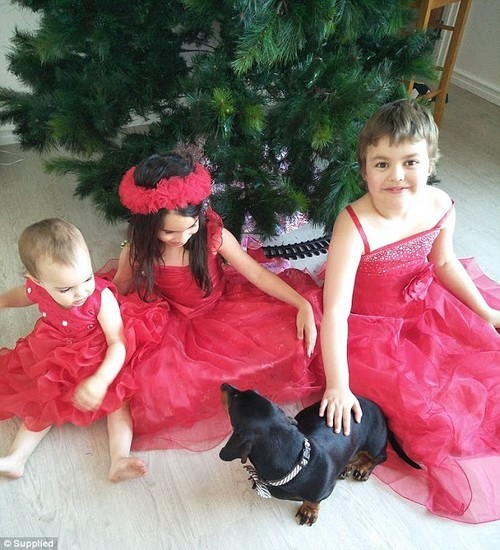 Last year Aroha had to spend Christmas in hospital which meant she missed out on spending it with her two sisters (pictured)