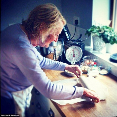 Julie and her mother Joyce Armstrong (pictured) began baking four years after Joyce was diagnosed with dementia