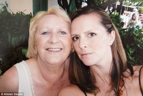 Julie (pictured right) says they had to stop baking as the disease made her mother become more and more anxious
