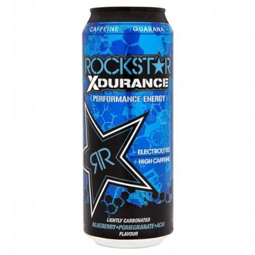 Rockstar Xdurance Performance Energy Blueberry, Pomegranate and Acai Flavour has 70g