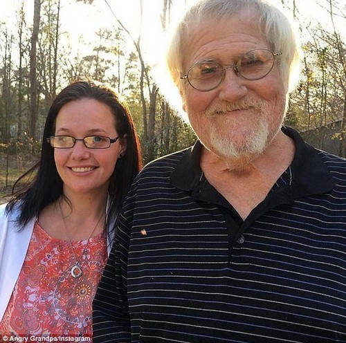 Illness: Angry Grandpa (pictured with his daughter Kim) was previously diagnosed with and recovered from skin cancer, but had battled numerous other health issues, including cirrhosis