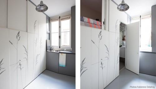 Минималистичный дизайн парижской квартиры.