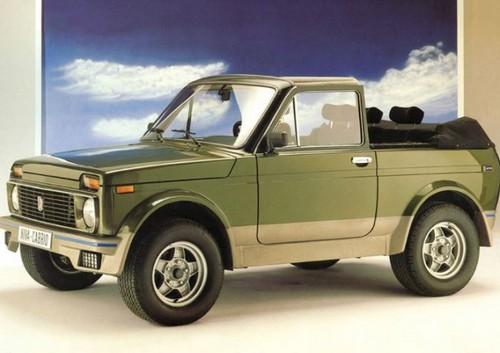Милая модификация Deutsche Lada Niva Cabrio.