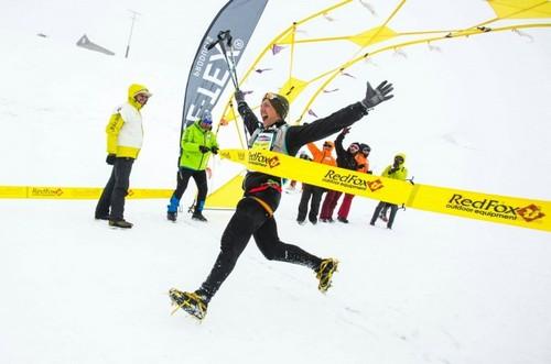 Максим Кочергин обогнал соперников на спуске и финишировал первым