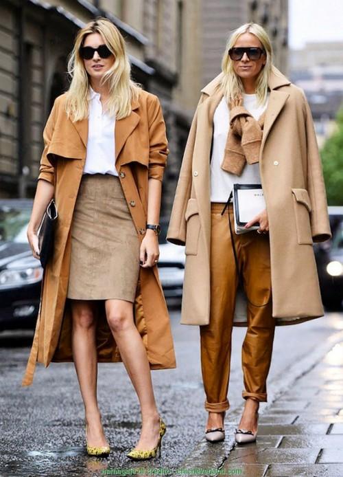 Одежда коричневых оттенков.