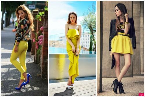 Наряды в желтом цвете.