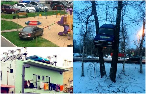 Вопиющие примеры автохамства на парковке.