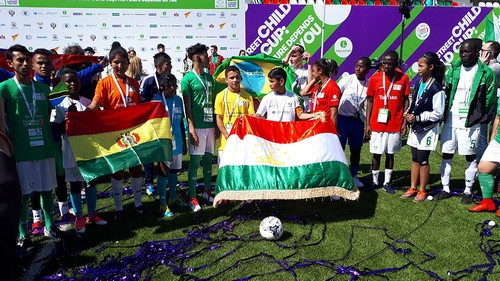 Team captains at the opening ceremony of the Street Child World Cup