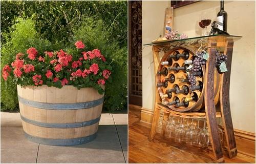 Неожиданные способы использования старых винных бочек в современном интерьере.