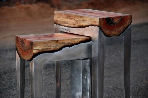 Сочетание дерева и металла в удивительной коллекции стульев «Hilla Shamia».