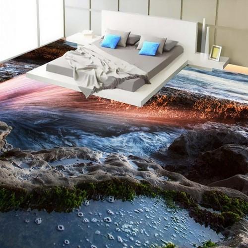 Наливной 3D-пол для тех, кто мечтает о лете.