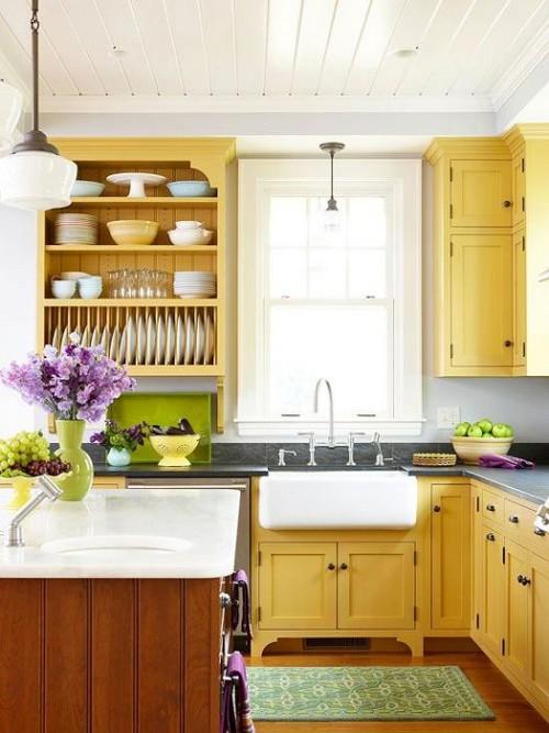 Жёлтый по праву можно назвать кухонным цветом.