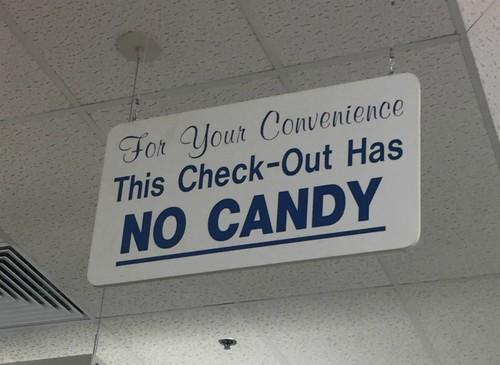 Касса без конфет.