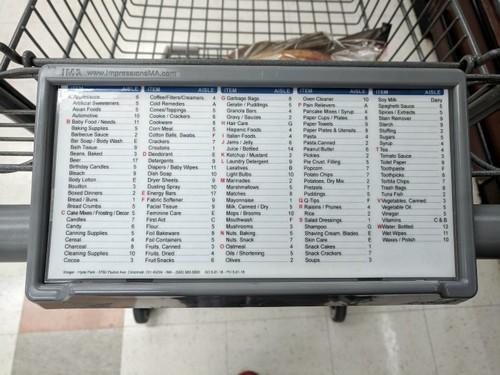Тележка с информационным списком.