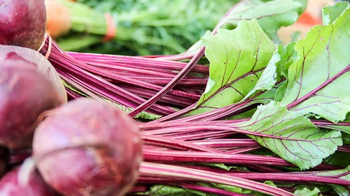 Fresh spring beets are completely edible, from root to leaf