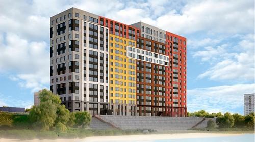 Новый дом на берегу стилистически очень похож на кварталы соседнего «Европейского Берега»