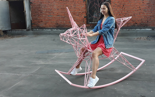A rocking horse for grown-ups.