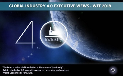 Global Industry 4.0 executive views - The Fourth Industrial Revolution is Here - Are You Ready? Deloitte Industry 4.0 executive research - overview and analysis. World Economic Forum 2018.
