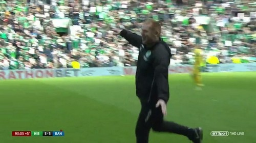 Neil Lennon: celebration was a 'have some of that' to Rangers fans after 5-5