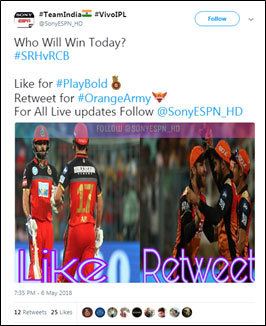 Social Media Predictions: Can RCB cause an upset against SRH tonight?