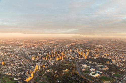 5 Photographers Share Quick Tips for Amazing Aerial City Photos - Use Cloud Cover for Visual Interest