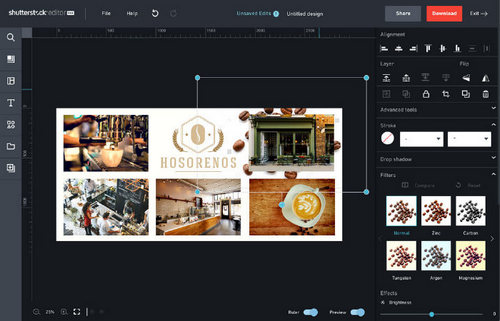5 Tips for Making Photo Collages in Shutterstock Editor - Using Background Images