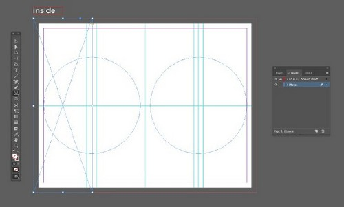 A Beginner's Guide to Creating Gate Fold Flyers in Adobe InDesign - Rectangle Frame Tool