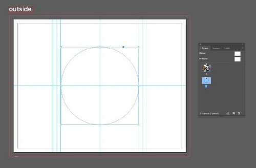 A Beginner's Guide to Creating Gate Fold Flyers in Adobe InDesign - Center Circle