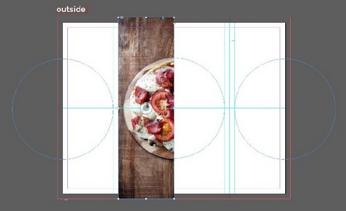 A Beginner's Guide to Creating Gate Fold Flyers in Adobe InDesign - Repeat with Rectangle Frame Tool