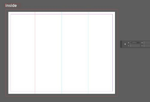 A Beginner's Guide to Creating Gate Fold Flyers in Adobe InDesign - Inner Fold Lines